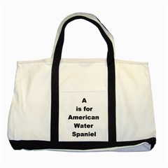 A Is For American Water Spaniel Two Tone Tote Bag