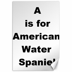 A Is For American Water Spaniel Canvas 24  X 36