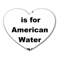 A Is For American Water Spaniel Heart Mousepads