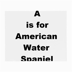 A Is For American Water Spaniel Small Glasses Cloth (2 Side)