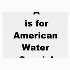 A Is For American Water Spaniel Large Glasses Cloth (2 Side)