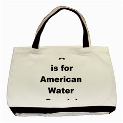 A Is For American Water Spaniel Basic Tote Bag (two Sides)