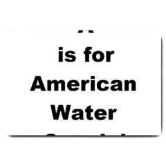 A Is For American Water Spaniel Large Doormat