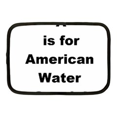 A Is For American Water Spaniel Netbook Case (medium)