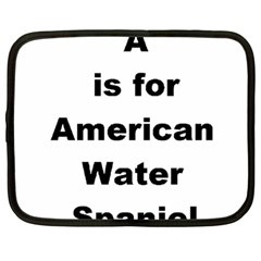 A Is For American Water Spaniel Netbook Case (large)