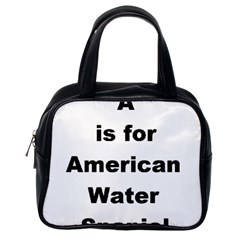 A Is For American Water Spaniel Classic Handbags (one Side)