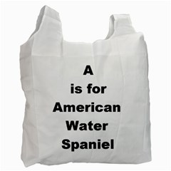A Is For American Water Spaniel Recycle Bag (two Side)