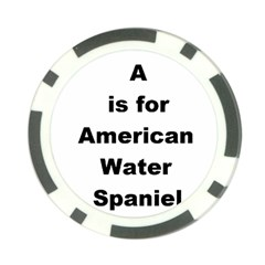 A Is For American Water Spaniel Poker Chip Card Guard (10 Pack)