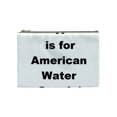 A Is For American Water Spaniel Cosmetic Bag (medium)