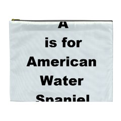 A Is For American Water Spaniel Cosmetic Bag (xl)