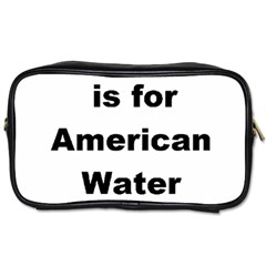 A Is For American Water Spaniel Toiletries Bags 2 Side