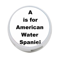 A Is For American Water Spaniel 4 Port Usb Hub (two Sides)