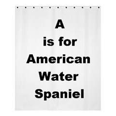 A Is For American Water Spaniel Shower Curtain 60  X 72  (medium)