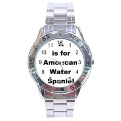 A Is For American Water Spaniel Stainless Steel Analogue Watch