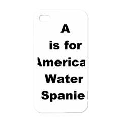 A Is For American Water Spaniel Apple Iphone 4 Case (white)