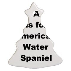 A Is For American Water Spaniel Ornament (christmas Tree)