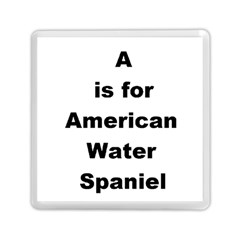 A Is For American Water Spaniel Memory Card Reader (square)
