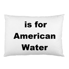 A Is For American Water Spaniel Pillow Case (two Sides)