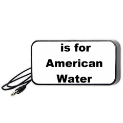 A Is For American Water Spaniel Portable Speaker (black)