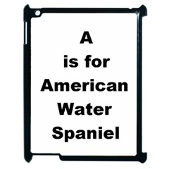A Is For American Water Spaniel Apple Ipad 2 Case (black)