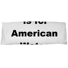 A Is For American Water Spaniel Body Pillow Case Dakimakura (two Sides)
