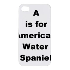 A Is For American Water Spaniel Apple Iphone 4/4s Premium Hardshell Case