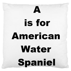 A Is For American Water Spaniel Large Cushion Case (two Sides)