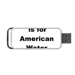 A Is For American Water Spaniel Portable Usb Flash (one Side)