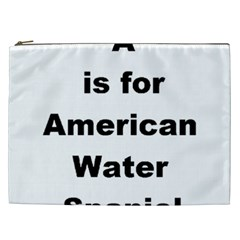 A Is For American Water Spaniel Cosmetic Bag (xxl)