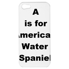 A Is For American Water Spaniel Apple Iphone 5 Hardshell Case