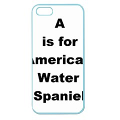 A Is For American Water Spaniel Apple Seamless Iphone 5 Case (color)