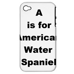 A Is For American Water Spaniel Apple Iphone 4/4s Hardshell Case (pc+silicone)