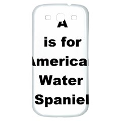 A Is For American Water Spaniel Samsung Galaxy S3 S Iii Classic Hardshell Back Case