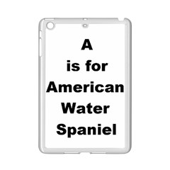 A Is For American Water Spaniel Ipad Mini 2 Enamel Coated Cases