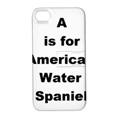 A Is For American Water Spaniel Apple Iphone 4/4s Hardshell Case With Stand