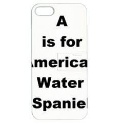 A Is For American Water Spaniel Apple Iphone 5 Hardshell Case With Stand