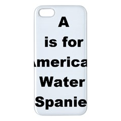 A Is For American Water Spaniel Apple Iphone 5 Premium Hardshell Case