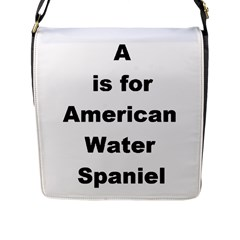 A Is For American Water Spaniel Flap Messenger Bag (l)