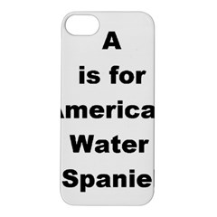 A Is For American Water Spaniel Apple Iphone 5s/ Se Hardshell Case