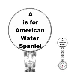 A Is For American Water Spaniel Stainless Steel Nurses Watch