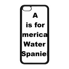 A Is For American Water Spaniel Apple Iphone 5c Seamless Case (black)