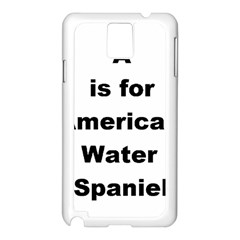 A Is For American Water Spaniel Samsung Galaxy Note 3 N9005 Case (white)