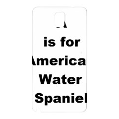 A Is For American Water Spaniel Samsung Galaxy Note 3 N9005 Hardshell Back Case