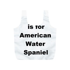 A Is For American Water Spaniel Full Print Recycle Bags (s)