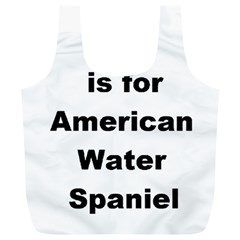 A Is For American Water Spaniel Full Print Recycle Bags (l)
