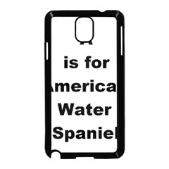A Is For American Water Spaniel Samsung Galaxy Note 3 Neo Hardshell Case (black)
