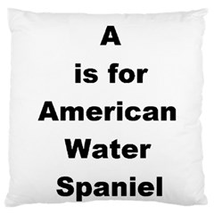 A Is For American Water Spaniel Large Flano Cushion Case (one Side)