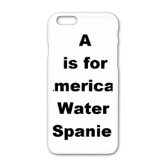 A Is For American Water Spaniel Apple Iphone 6/6s White Enamel Case