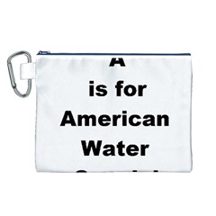 A Is For American Water Spaniel Canvas Cosmetic Bag (l)