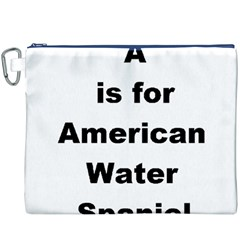 A Is For American Water Spaniel Canvas Cosmetic Bag (xxxl)
